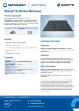 Oldroyd Xs Slimline Membrane Datasheet