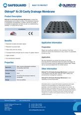 Oldroyd Xv 20 Cavity Drainage Membrane Datasheet