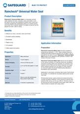 Raincheck Universal Water Seal Datasheet