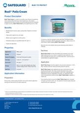 Roxil Patio Cream Datasheet