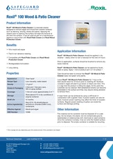 Roxil Wood And Patio Cleaner Datasheet