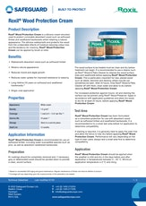 Roxil Wood Protection Cream Datasheet