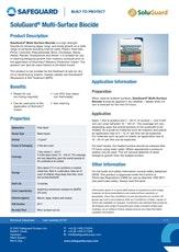 Soluguard Multi Surface Biocide Datasheet