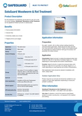Soluguard Woodworm And Rot Treatment Datasheet
