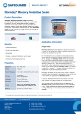 Stormdry Masonry Protection Cream Datasheet