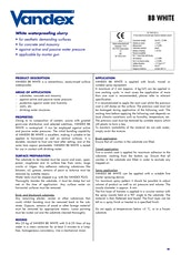 Vandex Bb White Datasheet