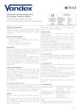 Vandex Bb75 E Z Datasheet