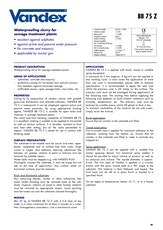 Vandex Bb75 Z Datasheet