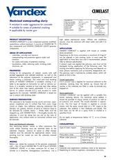 Vandex Cemelast Datasheet