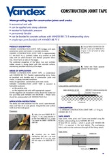 Vandex Construction Joint Tape Datasheet