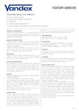 Vandex Flextape Adhesive Datasheet