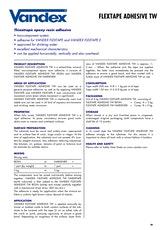Vandex Flextape Adhesive Tw Datasheet