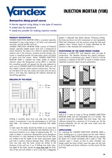 Vandex Injection Mortar Datasheet