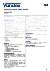 Vandex Plug Datasheet