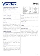 Vandex Rapid M Datasheet