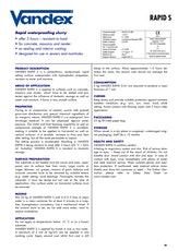 Vandex Rapid S Datasheet
