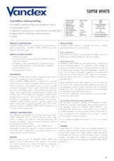 Vandex Super White Datasheet