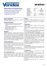 Vandex Uni Mortar 1 Datasheet