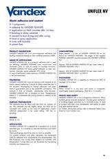 Vandex Uniflex Nv Datasheet
