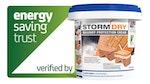 Stormdry Masonry Protection Cream has been verified by the Energy Saving Trust