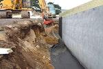Newbuild reinforced concrete basement
