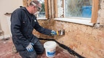 Fully remove all contaminated plaster
