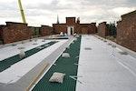 Brown roof construction in progress