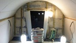Applying Oldroyd Xv Clear to the walls and ceiling of the basement
