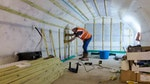 Drylining the basement with timber battens
