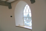 Plaster was applied on top of the Oldroyd Xp membrane to provide a warm and smooth finish