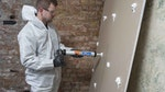 Rising damp fixed with the Dryzone Express Replasting System in Victorian Terraced House in Croydon