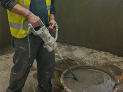 Waterproofing basement car park