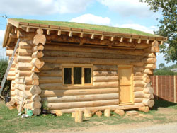 Turf Roof – Log Cabin
