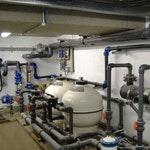 The completed underground plant room