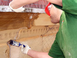 Waterproofing brickwork and stonework
