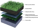 Flat green roof build up