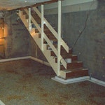 Basement during conversion