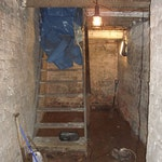 Stairs before cellar conversion