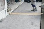 Oldroyd geotextile paving