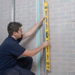 Ensure that the Fastframe Dry-liner Channels are upright