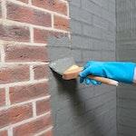 Applying Vandex BB75 by brush
