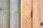 Roxil treated softwood resists ingrained dirt and biological growth making acidic cleaners unnecessary