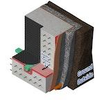 Vandex Expaseal expanding waterstop used in a newbuild concrete basement