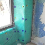 Oldroyd Xp Plaster Membrane Ficed to Wall
