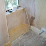 Plasterboard with skim finish