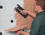 Oldroyd XP Plaster Membrane can accept direct application of plaster.