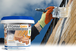 Stormdry Masonry Protection Cream being painted on to a brick wall